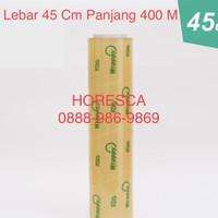 Plastik Wrapping Makanan Buah Merek WRAPPY Ukuran 45 cm x 400 m / Roll