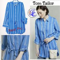 TOMT Blue white Striped Blouse