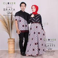 baju sarimbit keluarga gamis dan koko katun batik original Clover