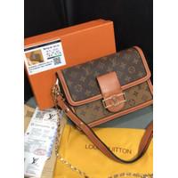 Tas Lv free Free box premium quality tas slempang wanita slingbag lv