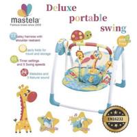 mastela deluxe portable swing bouncer ayunan elektrik bayi