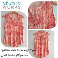 Studio WS Split Neck Redorange mix