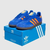 sepatu Adidas samba og trainer blue orange original