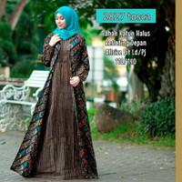 batik gamis lebaran Baju remaja batik longdress batik wanita terbaru
