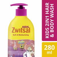 Zwitsal Kids Bubble Bath Pink Pump Botol 280ml