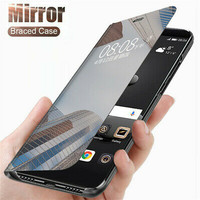 Flip Case Samsung M30/M20/M10 2019 Clear View Mirror Standing Cover