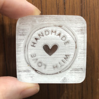 Handmade with Love #5 Soap Stamp Akrilik stempel sabun MAGA