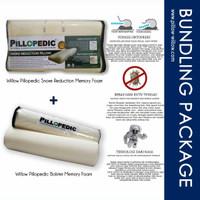 Bantal Snore Reduction dan Guling Memory Foam Set
