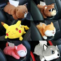 Kotak Tisu Boneka/Tempat Tisu Arm Rest Mobil Motif Pikachu,Bear,Monkey