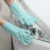 Sarung tangan ( SEPASANG ) cuci piring Silicone Dishwashing Gloves r