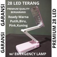 Lampu LED Baca Meja Belajar Lipat Emergency Rechargeable GARANSI