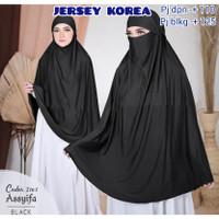 french khimar / niqab syari jumbo / hijab masker