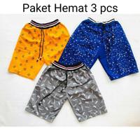 Paket 3 Pcs celana pendek anak laki laki kolor anak 6-10 tahun