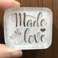 Made With Love #6 Soap Stamp akrilik stempel sabun MAGA