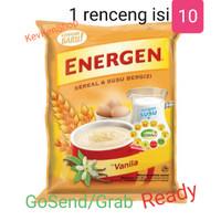 ENERGEN Sereal susu Vanila 1 renceng isi 10 sachet
