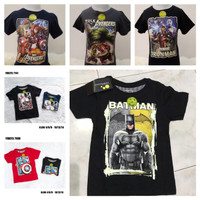 Kaos merk FURO Avenger, Superman, Spiderman GLOW IN THE DARK