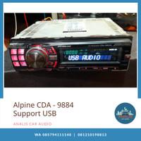 Head unit single din Alpine CDA - 9884 USB tape mobil