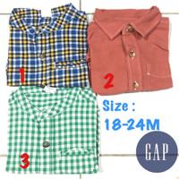 Kemeja koko Gap 18-24bulan anak laki baju kaos anak branded