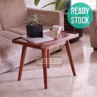 Meja Kayu Solid Coffee Side Table Kopi Cafe Tamu Samping Kamar Bed