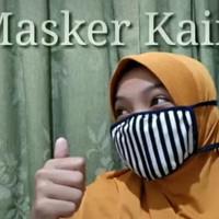 Berkualitas Masker kain 2 Lapis motif bagus warna pavorit