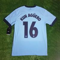 Jersey Manchester City 2014/15 Home #16 KUN AGUERO ORIGINAL