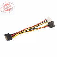 Kabel Splitter SATA 15 Pin Male to 4Pin IDE Molex Female + SATA Female