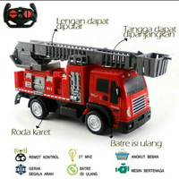 Mainan anak mobil rc remote control pemadam kebakaran damkar