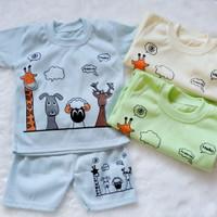Cakep!!! 1 Stel Baju Baby Boy Murah Jakarta Usia 0-12 Bulan.