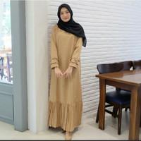 Gamis Syari Dress Muslim Sarita - Cokelat