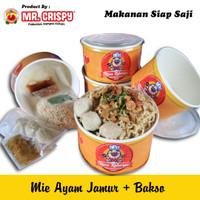 Mie Ayam Jamur + Bakso