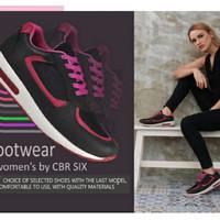 CBR SIX SEPATU SPORT Wanita (HLC 082)-Hitam 37