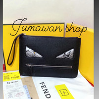 Clutch Pria F3ndi Mirror Quality Handbag pria dan wanita import