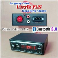 Rakitan Mp3 USB FM Bluetooth 5.0 Player AC 220V-240V Mini Box