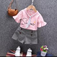 SUMMER setelan baju anak bayi perempuan import