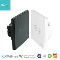 BARDI Smart Light Switch Touch Wall Switch Saklar Lampu Wifi EU 2 Gang