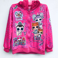Jaket Anak Perempuan Karakter Frozen ukuran XL & LOL Surprise ukuran L