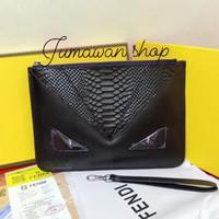 Clutch F3ndhi Full Black Grade Ori Quality handbag pria & wanita