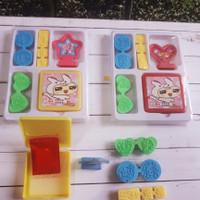 Stempel lucu 1 set lengkap tinta / stamp set untuk anak