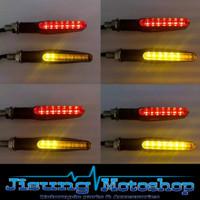 Lampu sign sein sen LED motor universal flowing berjalan sequential