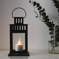 Borrby Lentera/Tempat Lilin Hitam