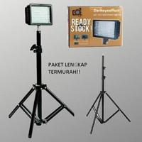Paket LED 160 Video Lighting-lampu studio foto murah Light stand