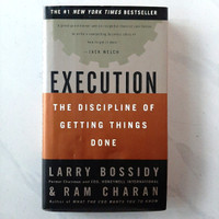 Buku EXECUTION The Discipline Of Getting Things Done by Larry Bossidy