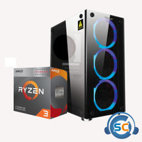 PC RAKITAN 3200G ASROCK A320M-HDV RAM 8GB SSD 120GB CCASE NIMITZ TR100