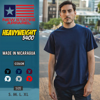 Kaos Polos New States Heavyweight 5400 (Color, Size S-XL)