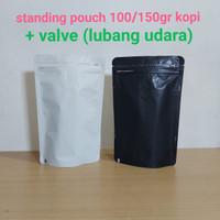 kemasan kopi standing pouch klip ukuran 13x20 dengan valve