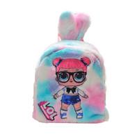 Tas Sequin Anak Lol LED / Tas Sekolah Anak Bulu/ Fluffy Bag - Biru