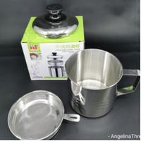 Oil Pot Stainless Stell 1100 ml 13 cm Wadah Minyak Goreng