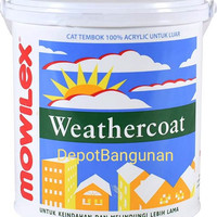 Cat Tembok Mowilex Weathercoat Exterior W - 1501 White 2.5 Liter