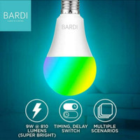 Lampu Smart Home BARDI LED Light Bulb Wifi RGB WW 9W 9 Watt