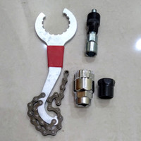 Set repair tools Kit Sepeda 5 fungsi Kunci BB Kotak HT2 Sprocket
